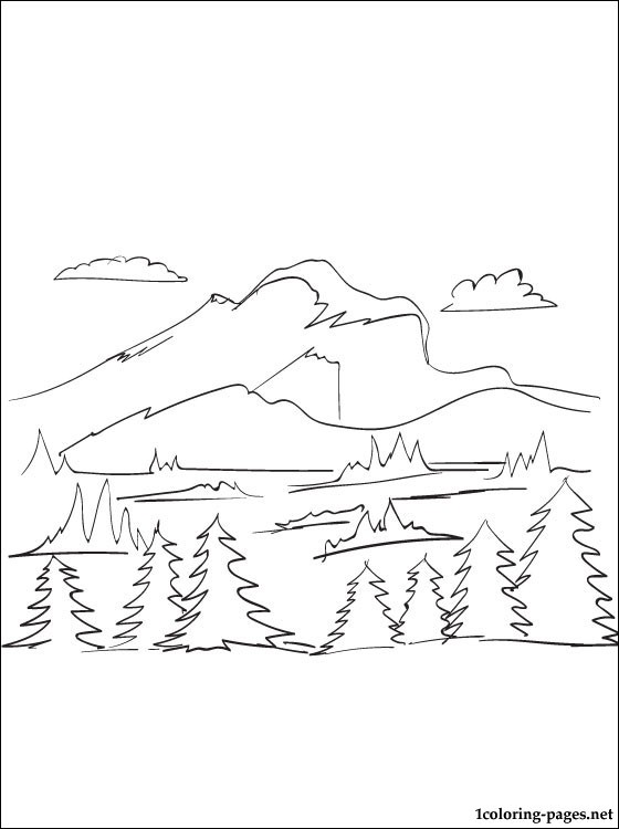 Mountain coloring #1, Download drawings