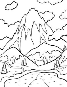 Mountain coloring #11, Download drawings