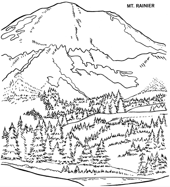 Mountain coloring #10, Download drawings