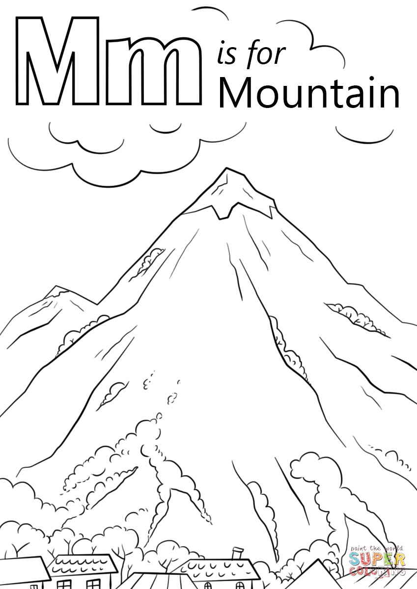 Mountain coloring #12, Download drawings