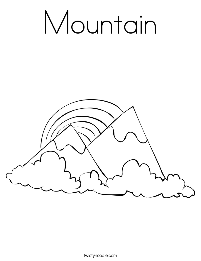 Mountain coloring #19, Download drawings