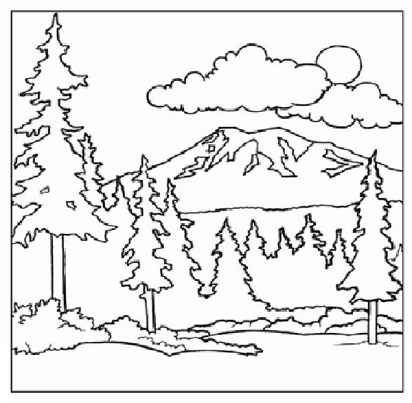 Mountain coloring #17, Download drawings