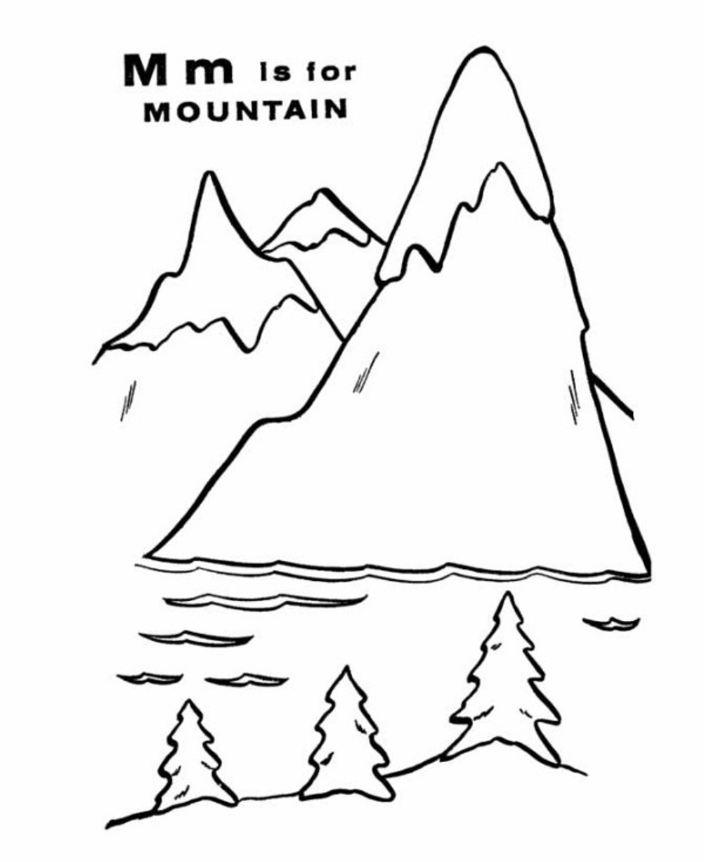 Mountain coloring #5, Download drawings