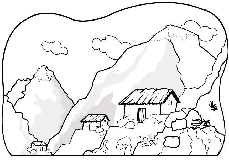 Mountain coloring #6, Download drawings