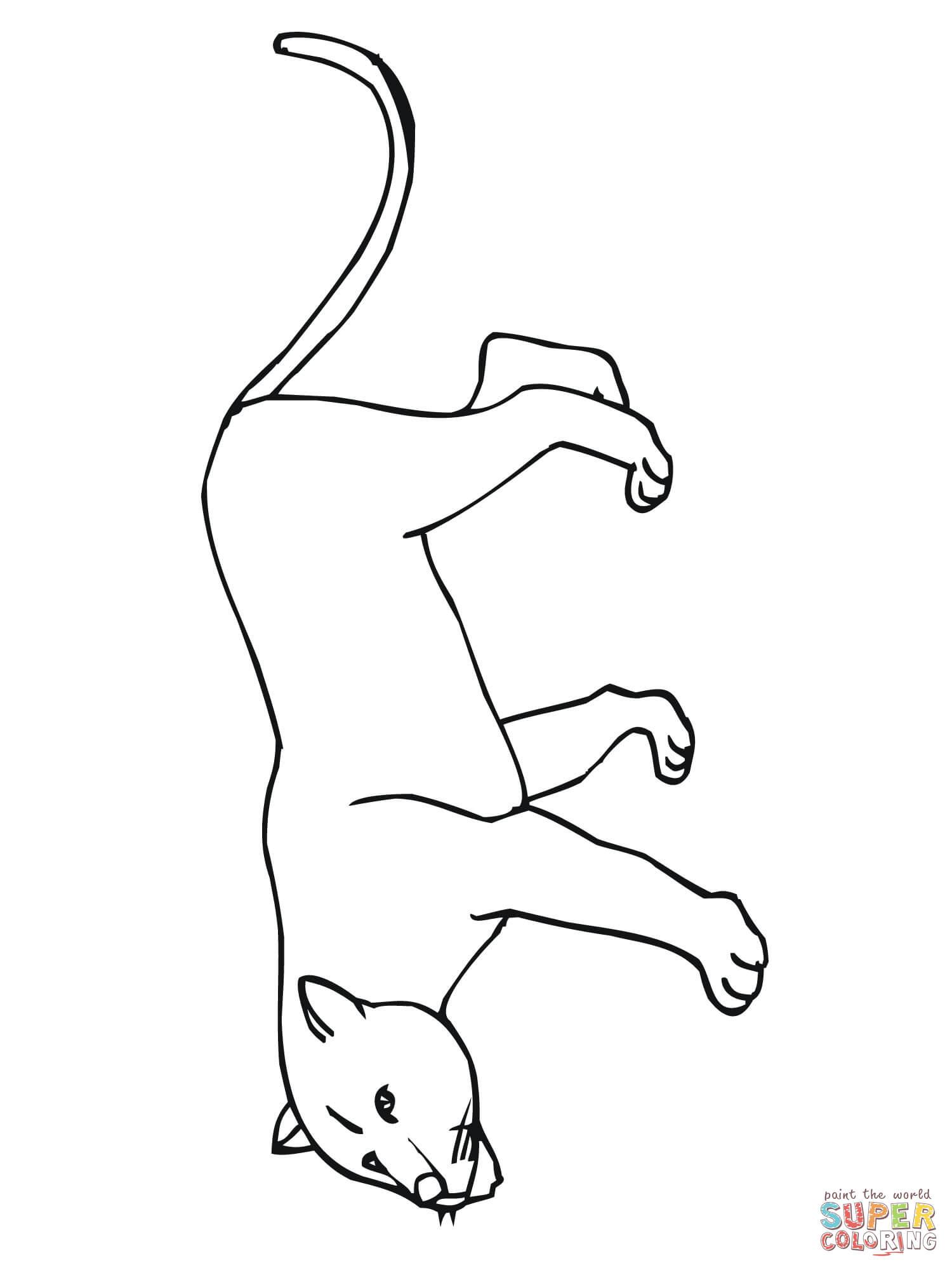 Puma coloring #8, Download drawings