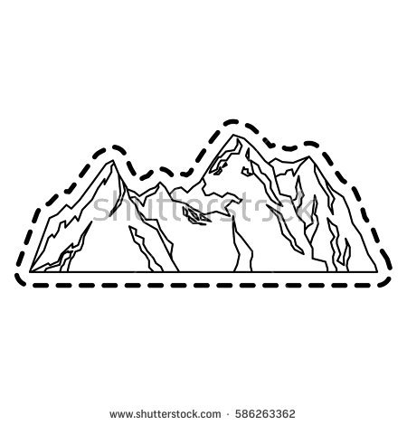 Mountain Ridge coloring #11, Download drawings