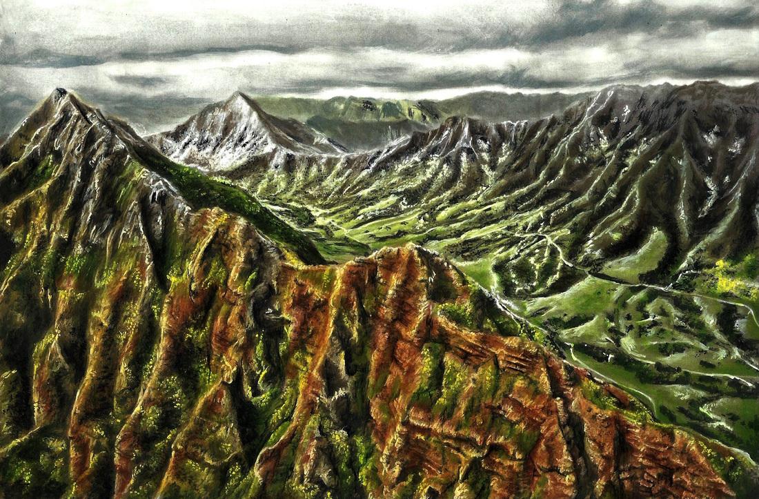 Mountain Ridge coloring #4, Download drawings