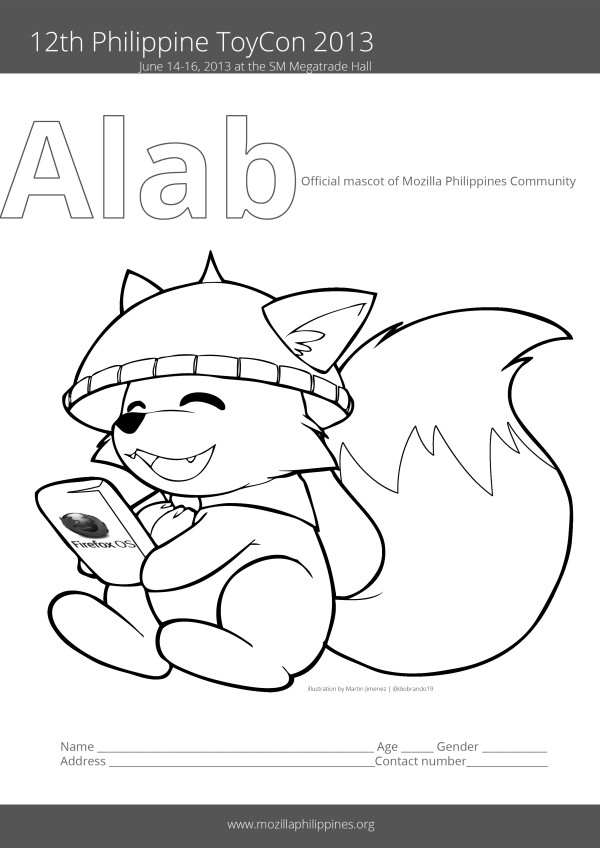 Mozila coloring #7, Download drawings