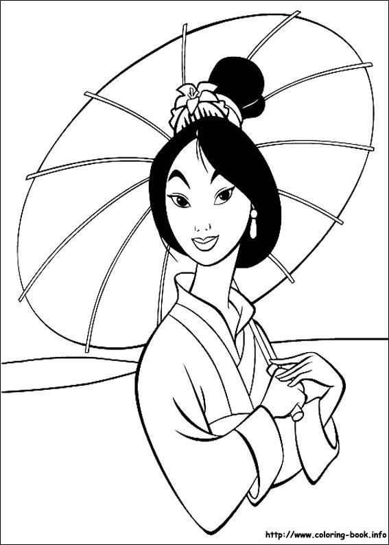 Mulan coloring #19, Download drawings