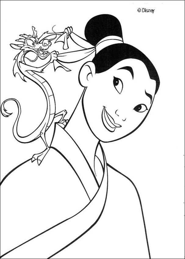 Mulan coloring #13, Download drawings