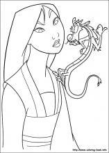 Mulan coloring #9, Download drawings