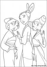 Mulan coloring #8, Download drawings