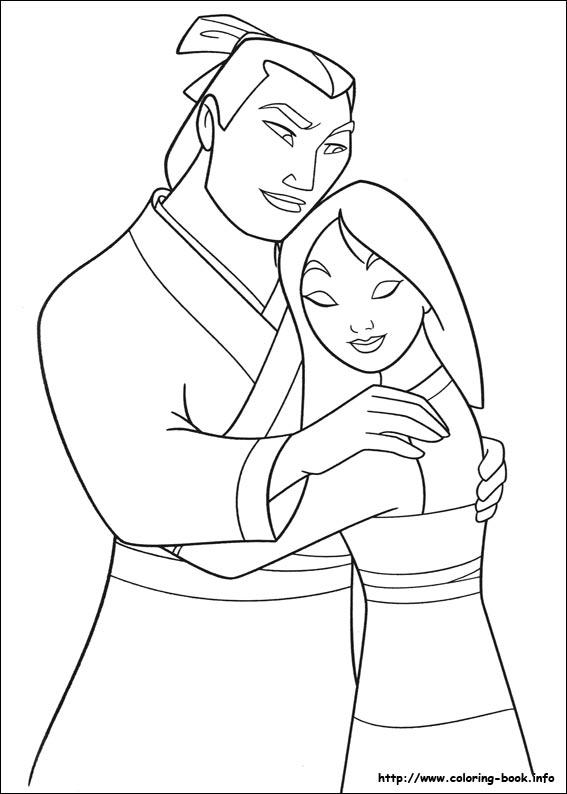 Mulan coloring #17, Download drawings