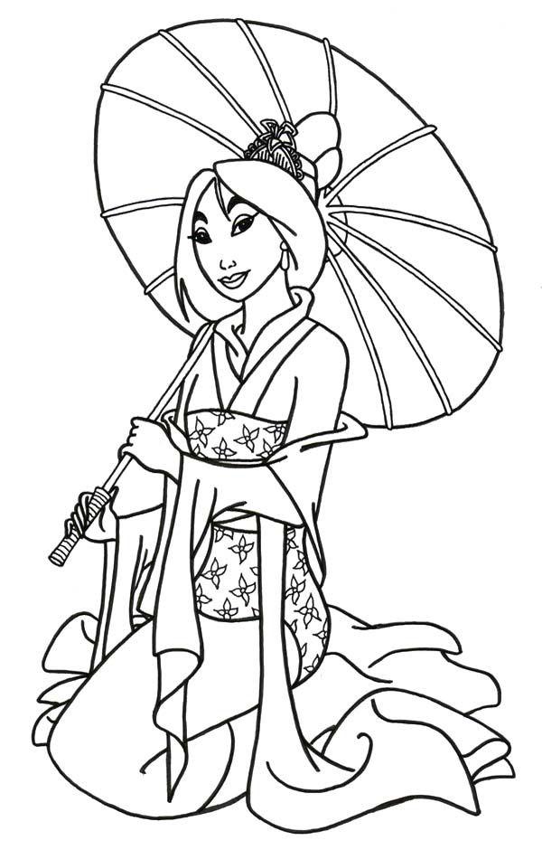 Mulan coloring #3, Download drawings