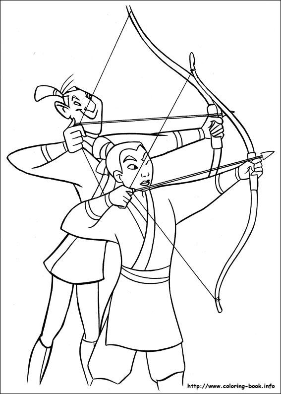 Mulan coloring #14, Download drawings