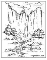 Multnomah Falls coloring #12, Download drawings