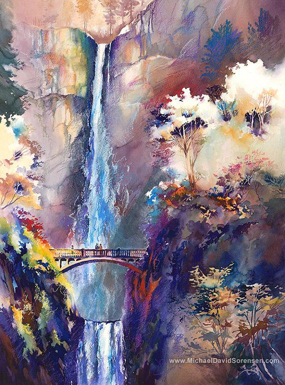 Multnomah Falls coloring #7, Download drawings