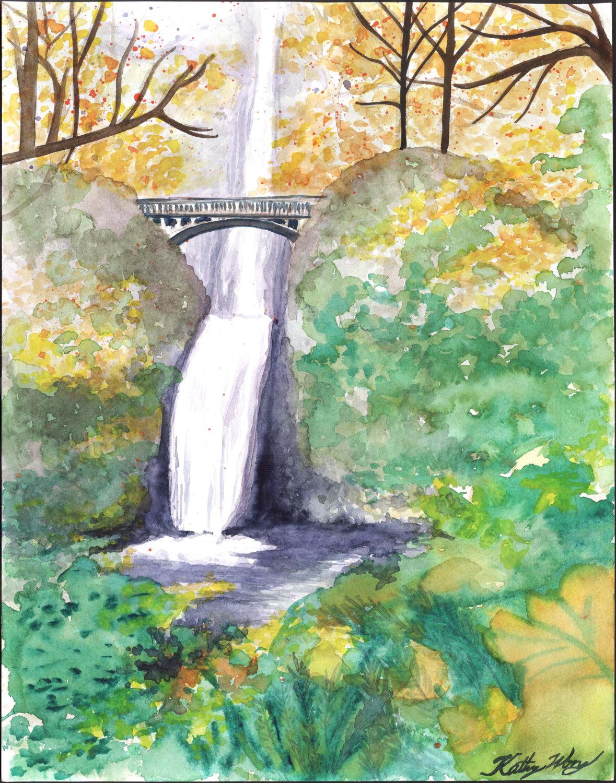 Multnomah Falls coloring #8, Download drawings