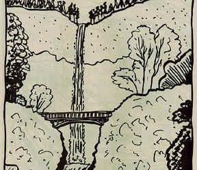 Multnomah Falls coloring #17, Download drawings