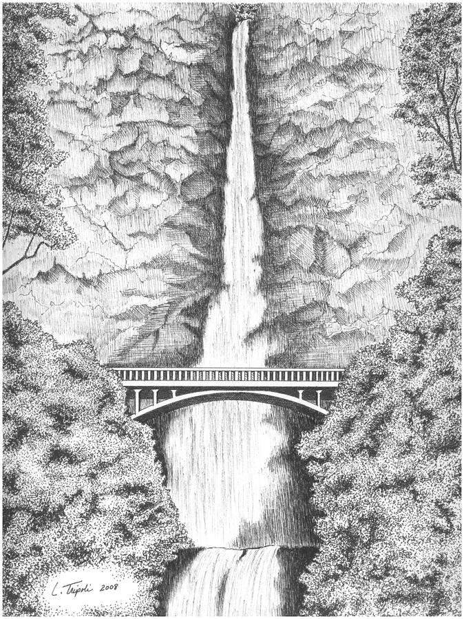 Multnomah Falls coloring #4, Download drawings