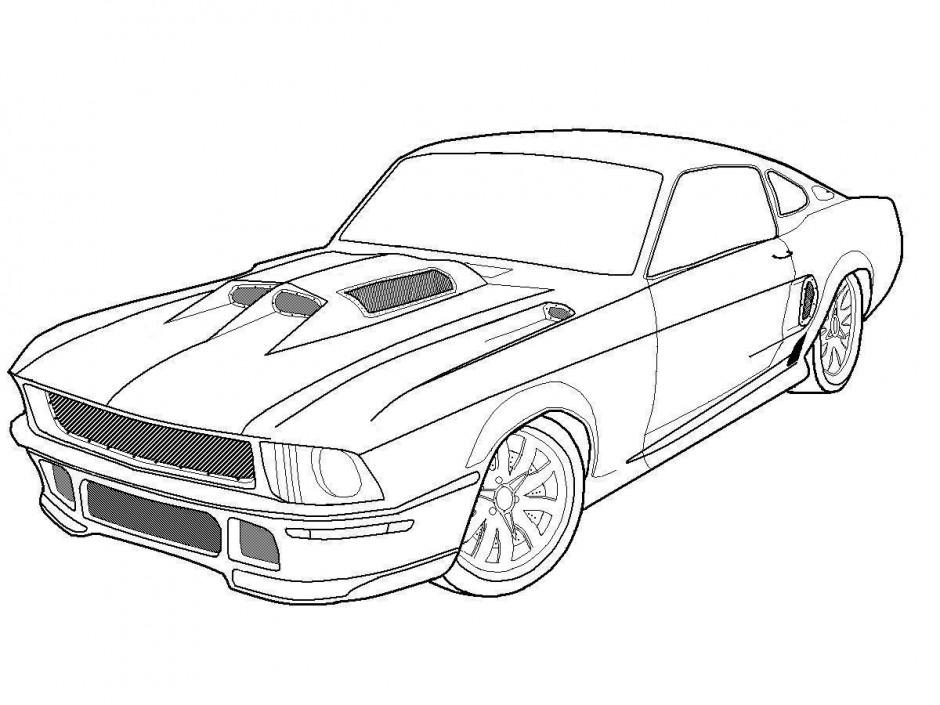 Muscle Car coloring #19, Download drawings