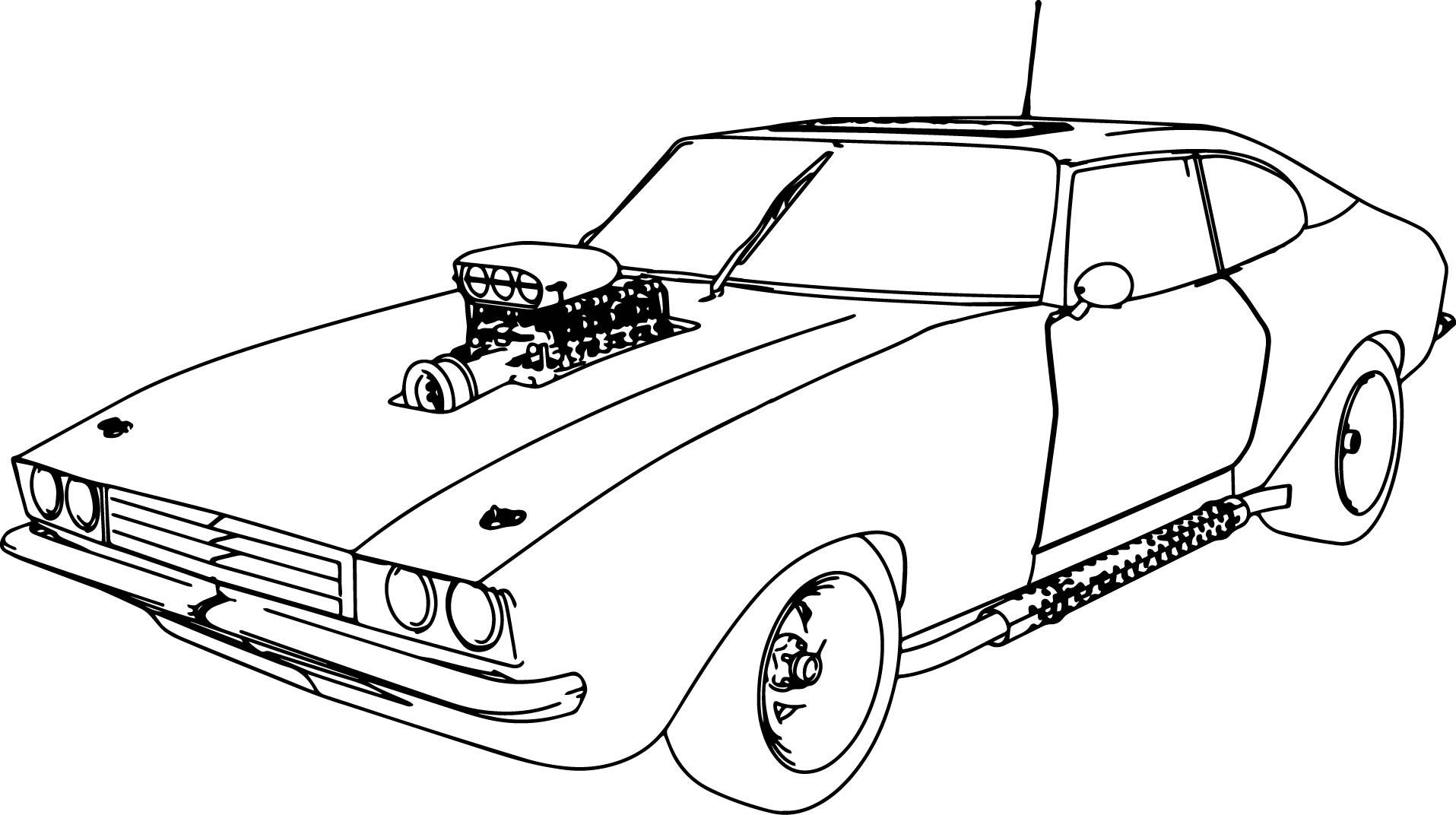 Muscle Car coloring #2, Download drawings