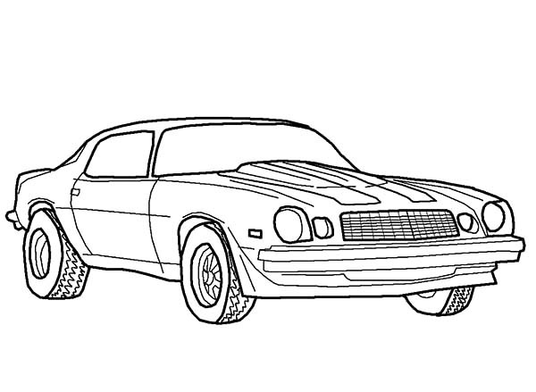 Coloring Pages Of Muscle Cars Eskayalitim