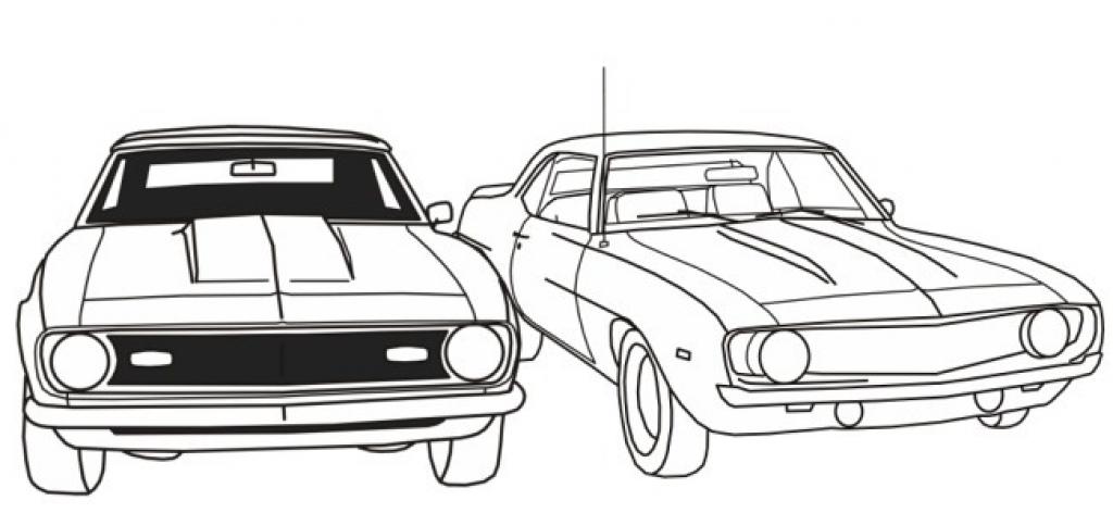 Muscle Car coloring #13, Download drawings