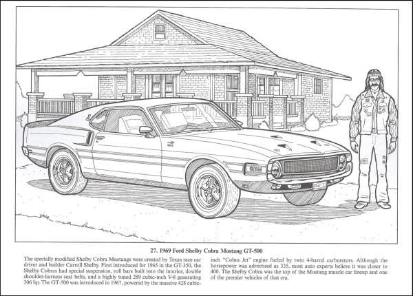 Muscle Car coloring #15, Download drawings