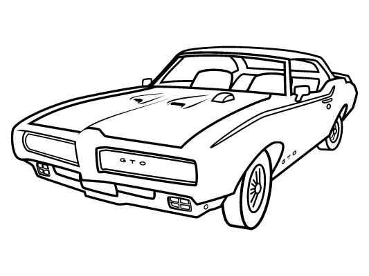 Muscle Car coloring #9, Download drawings