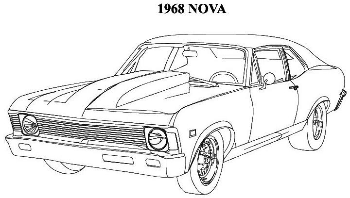 Muscle Car coloring #18, Download drawings