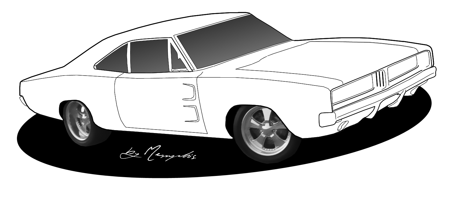 Muscle Car coloring #4, Download drawings