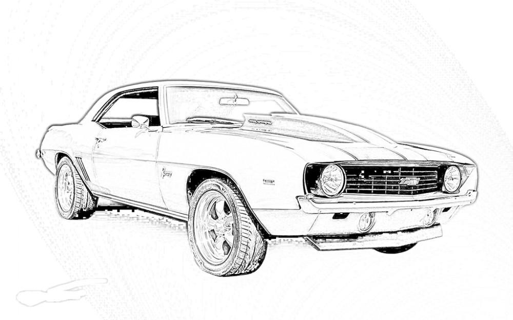 Muscle Car coloring #7, Download drawings