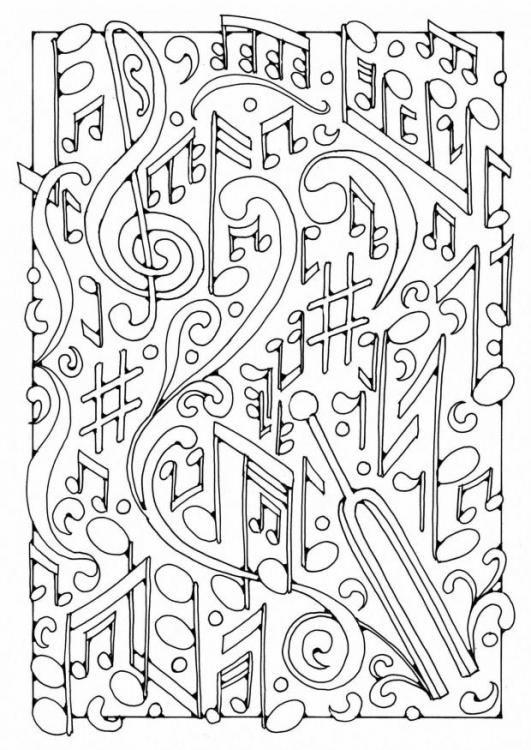 Music coloring #14, Download drawings