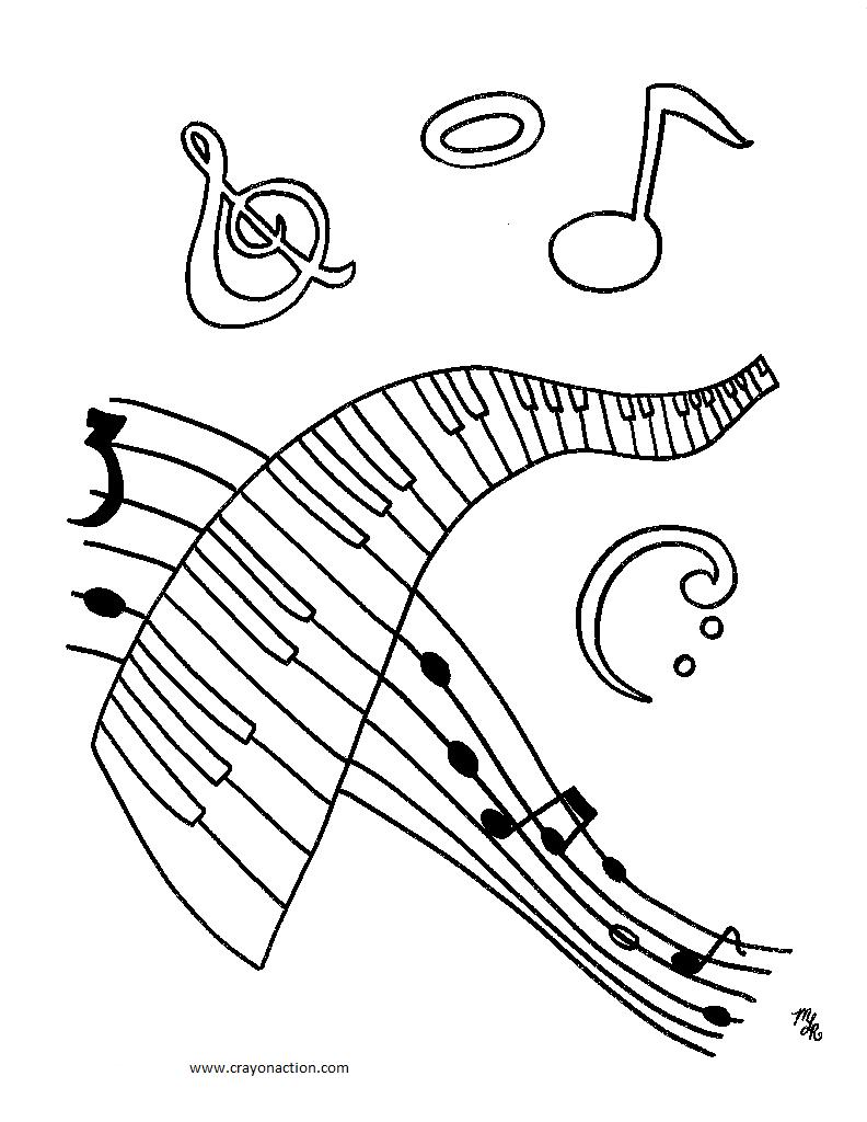 Music coloring #8, Download drawings