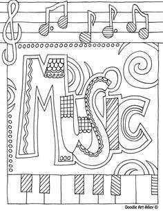 Music coloring #18, Download drawings