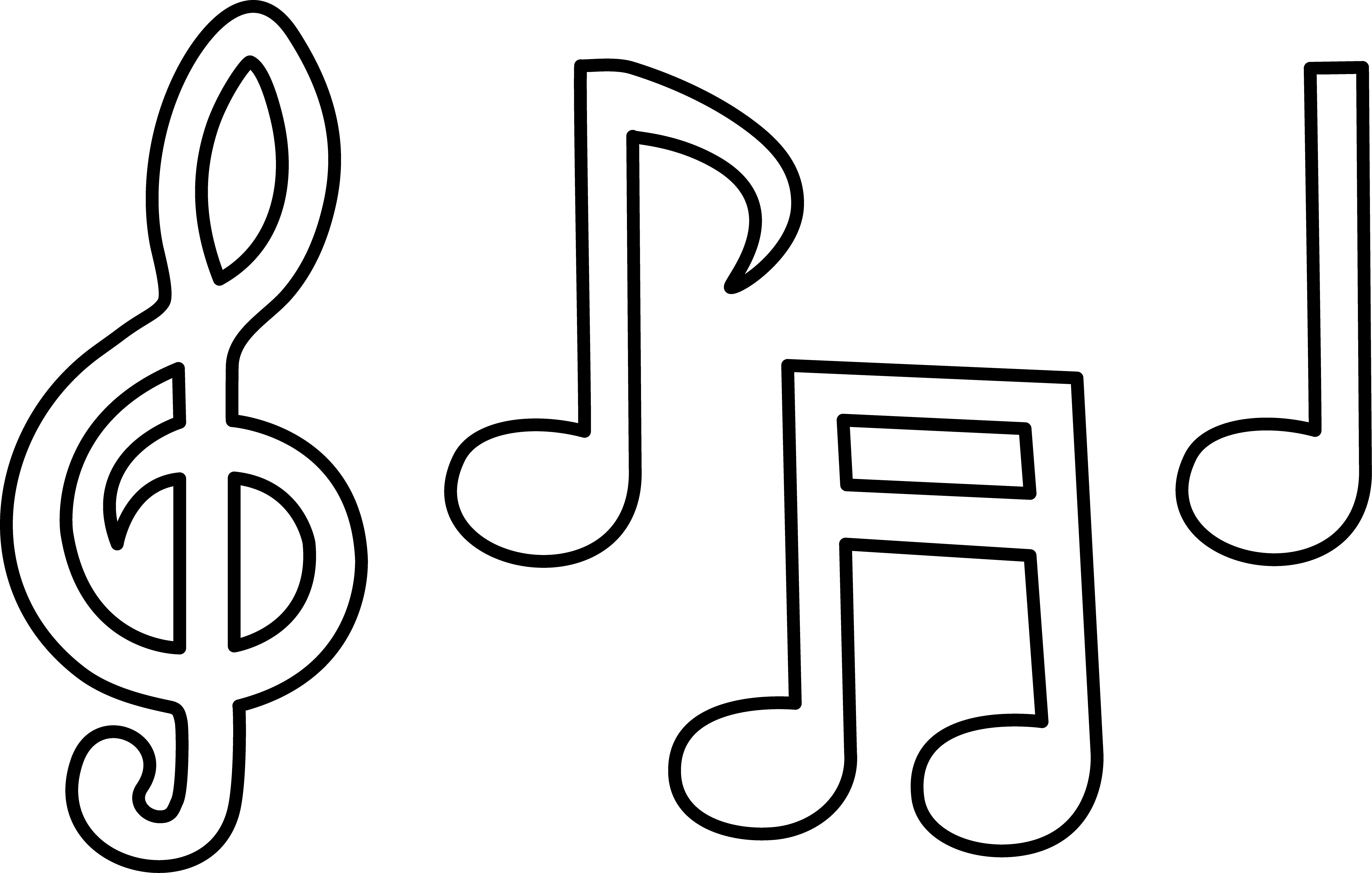 Music Notes coloring #6, Download drawings