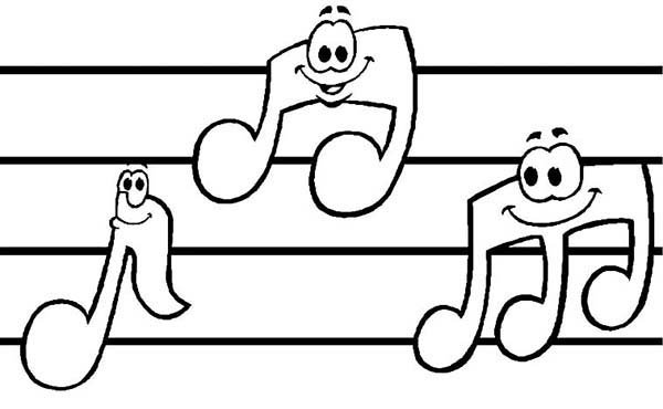 Music Notes coloring #10, Download drawings
