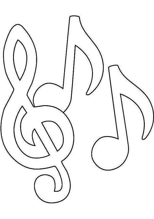 Music Notes coloring #9, Download drawings
