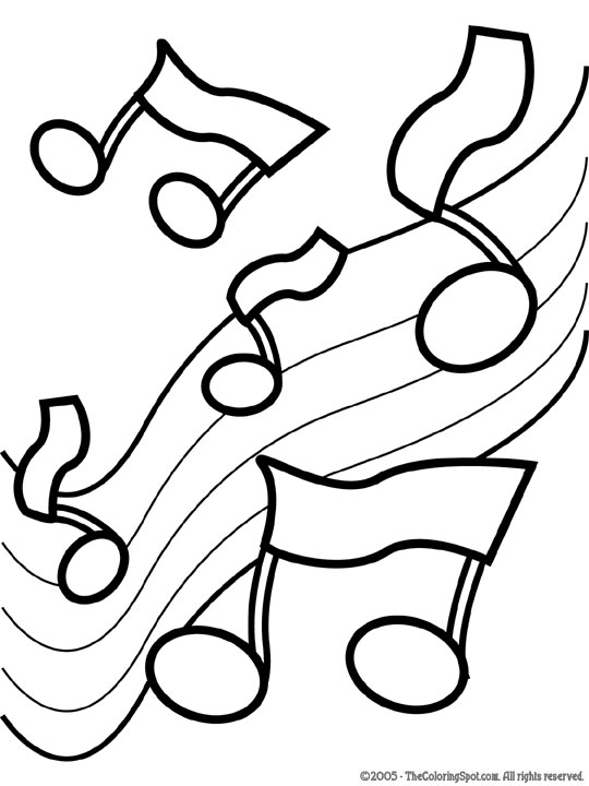 Music Notes coloring #5, Download drawings
