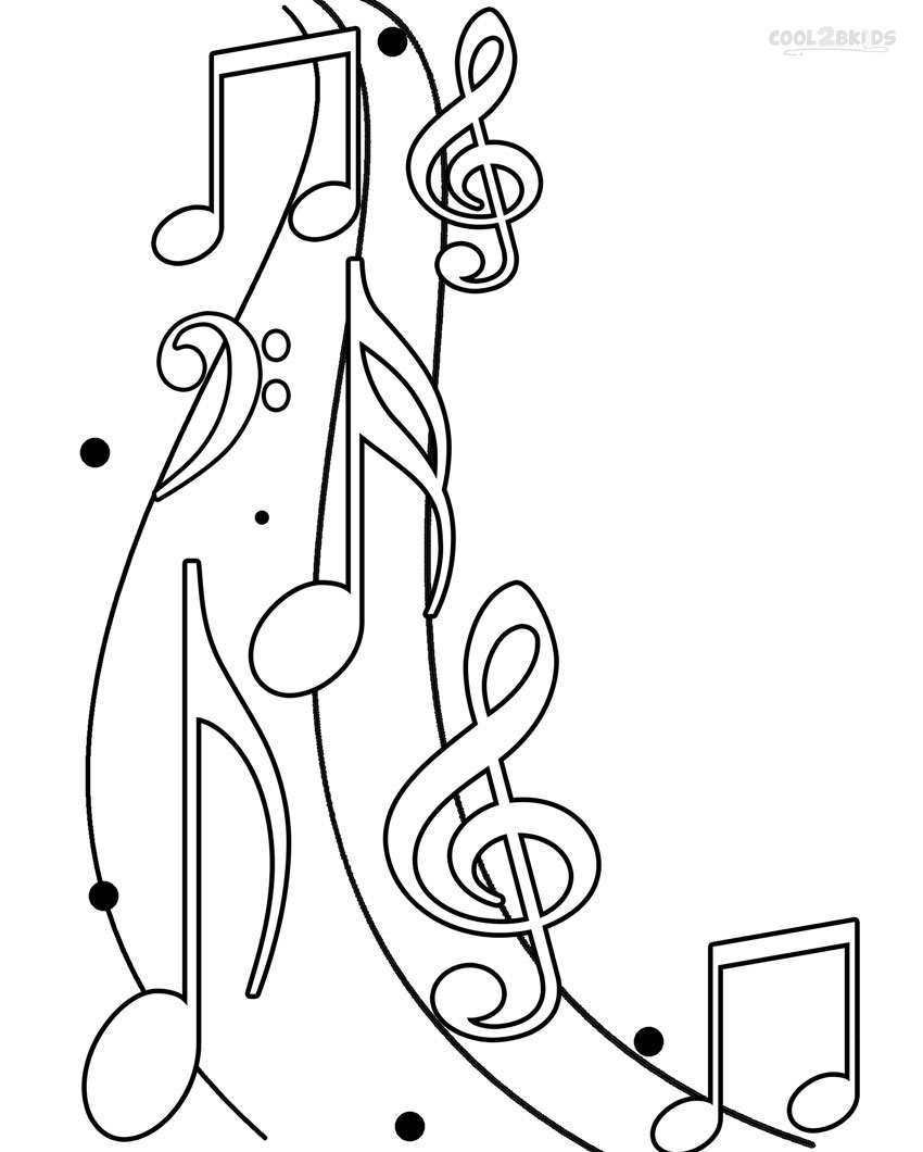 Music Notes coloring #3, Download drawings