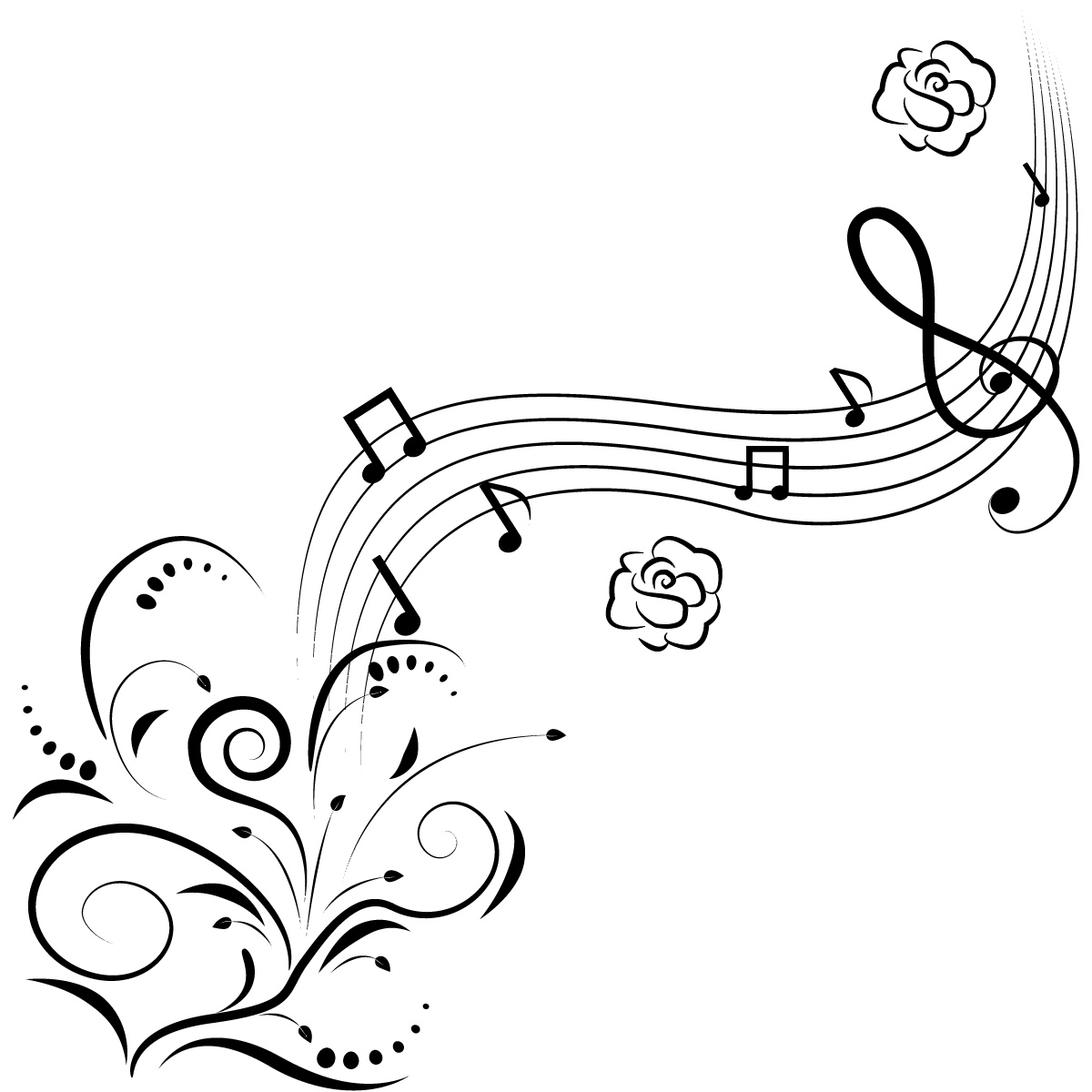 Music Notes coloring #4, Download drawings