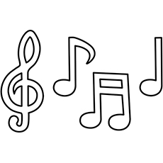 Music Notes coloring #20, Download drawings