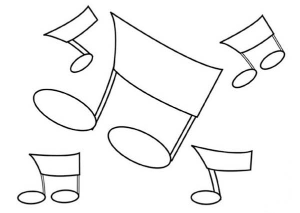 Music Notes coloring #16, Download drawings
