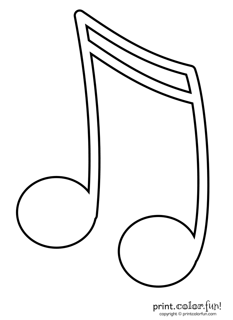 Music Notes coloring #15, Download drawings