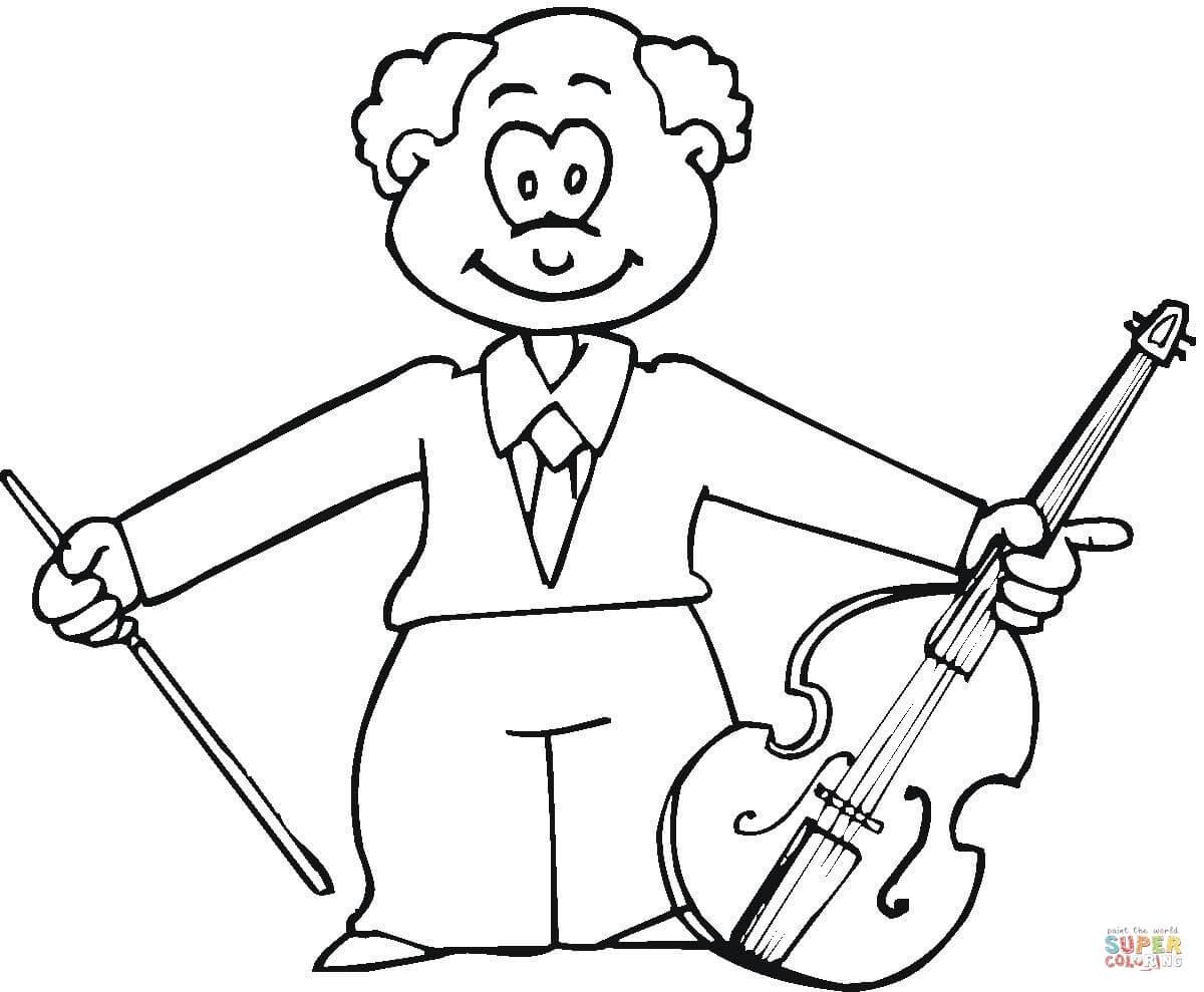 Musician coloring #9, Download drawings