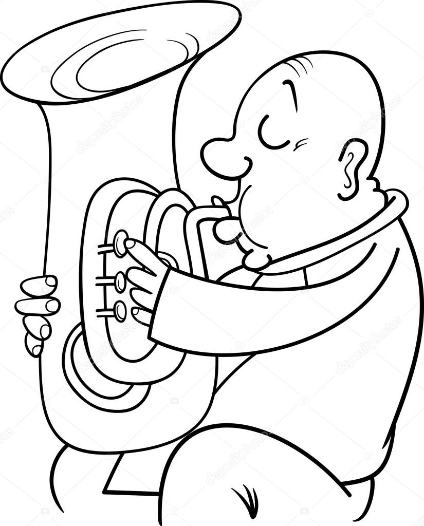 Musician coloring #18, Download drawings