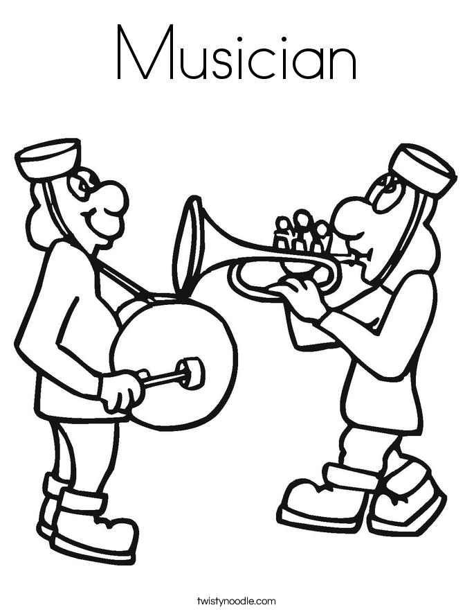 Musician coloring #19, Download drawings