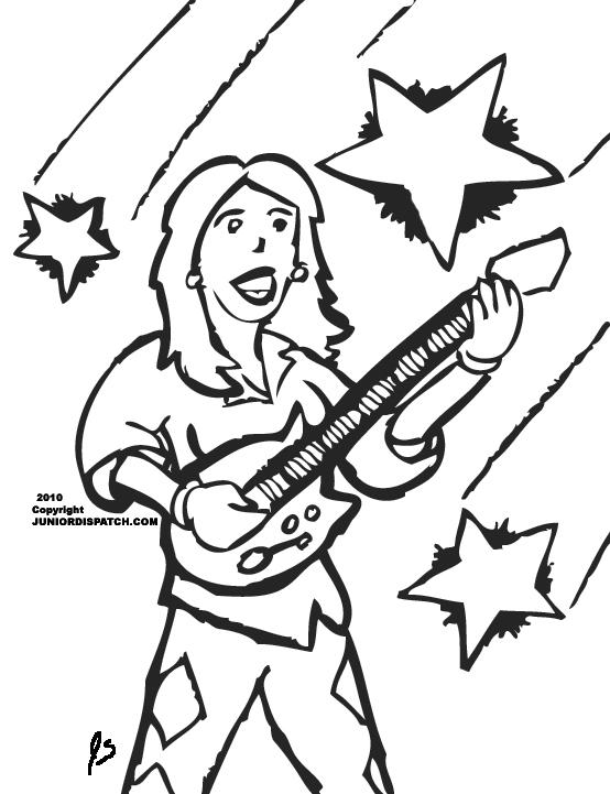 Musician coloring #1, Download drawings