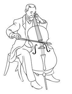 Musician coloring #14, Download drawings